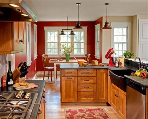 red kitchen walls with oak cabinets 25 best ideas about red kitchen walls on pinterest red