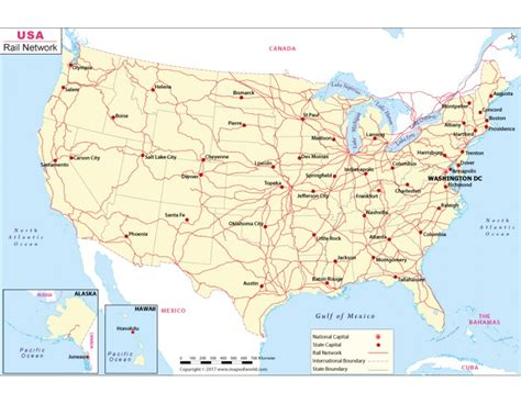 map usa rail network buy us rail network map digital us rail map