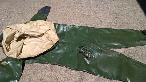 aquala rubber dry suit diving gear dive gear