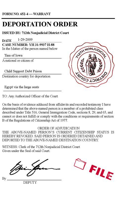 Support Letter For Immigration Deportation immigration deportation letter images