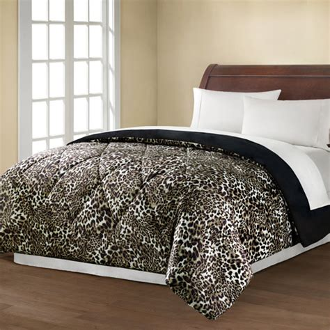 leopard bedding mainstays reversible comforter collection leopard