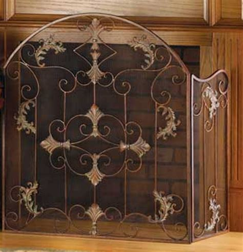 tri fold fireplace screen with doors fireplace screen wrought iron tri fold italian florentine