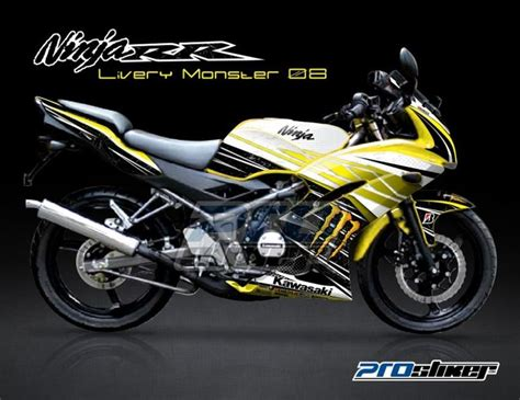 Decal 150 Rr New Sunmoon 04 Hitam Sticker Striping stiker motor kawasaki 150rr kuning livery 08 bike motors ninjas