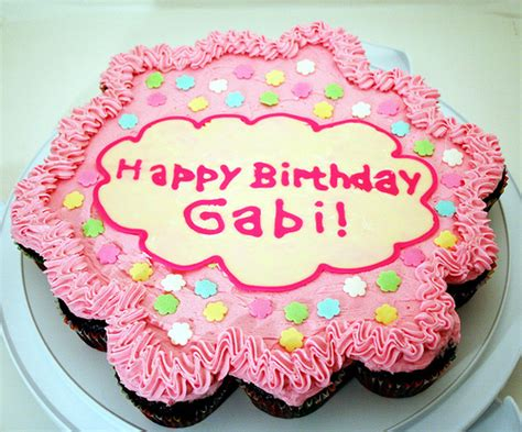 imagenes happy birthday gaby cupcake cake flickr photo sharing