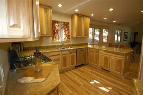 Hickory Countertops by Hickory Cabinets With Granite Countertops Brown Hairs