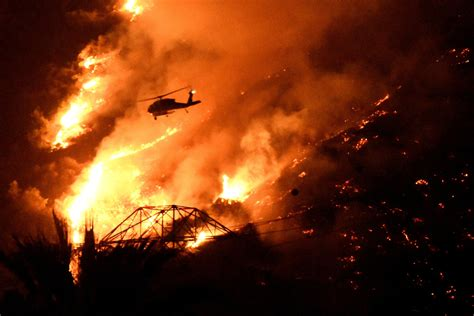 The On Socal Fires by Crews Battle To Quell California Wildfire Near Big Sur Coast
