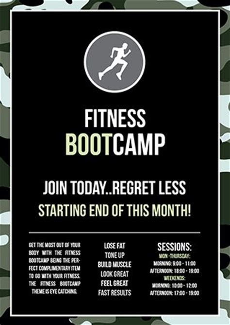 11 Best Fitness Flyer Ideas Images On Pinterest Fitness Flyer Gym And Exercises Boot C Flyer Template