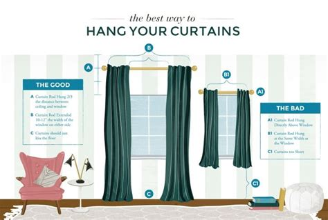 how to hang curtains from the ceiling the best way to hang your curtains handy smart
