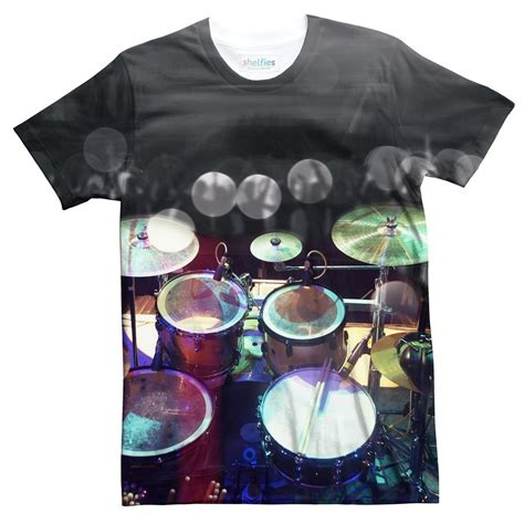 Drum Rock On Tshirt drum kit t shirt shelfies