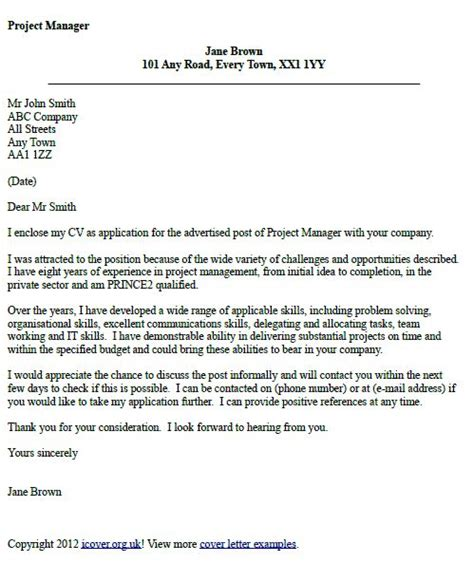 sle cover letter for project assistant 3623