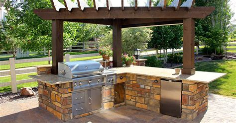 backyard kitchen design choose the backyard outdoor kitchen designs for your home