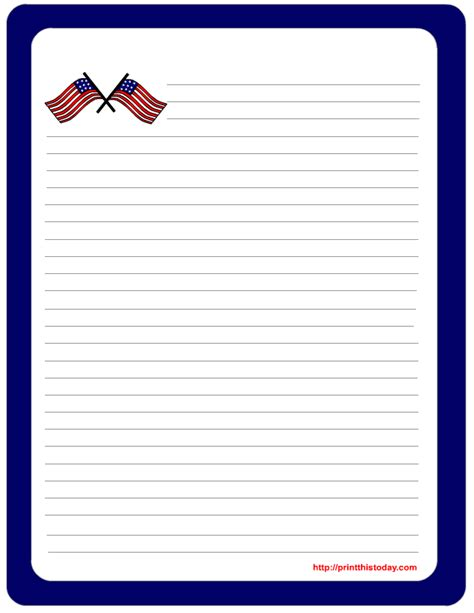 printable stationary download free printable 4th of july stationery