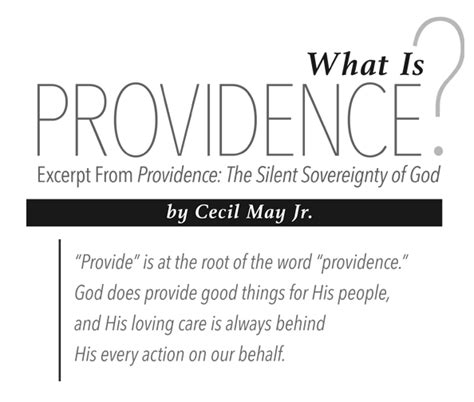 on god his home and his books book excerpt providence the silent sovereignty of god
