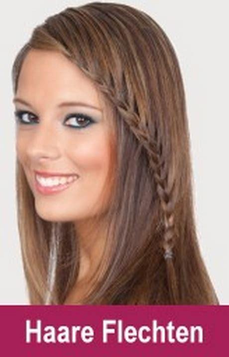Frisuren F 252 R Lange Haare Geflochten