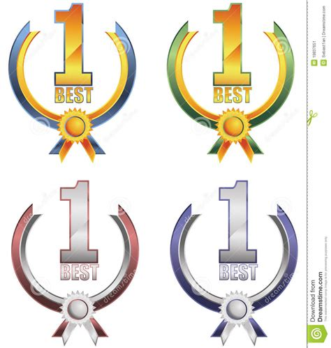 now a number 1 best number one award banner stock image image 19837651