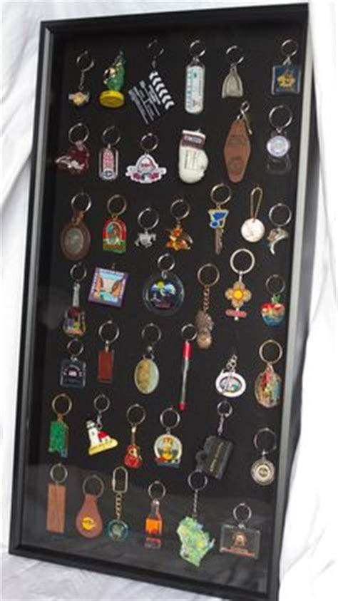Key Chain Collection Display Made - collection displays key chains and on
