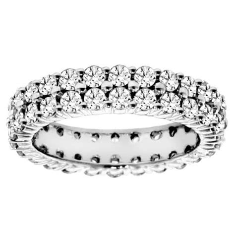 cheap eternity bands 3 50 ct tw 2 row
