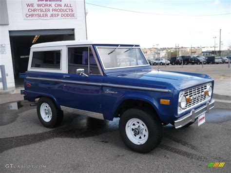 blue bronco 1973 medium blue ford bronco 4x4 29004639 photo 3