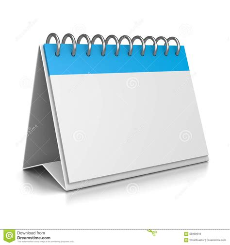 desk calendar 3d template stock illustration image of