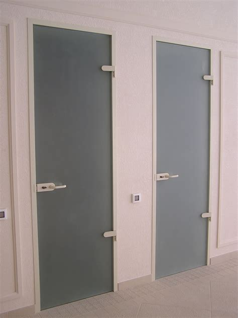 Doors Glass Interior Modern Glass Door In Bathroom And Toilet