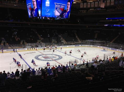 msg section 106 madison square garden section 106 new york rangers
