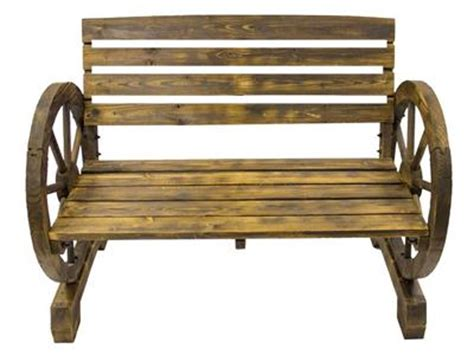cartwheel bench burnt wood cartwheel garden bench outdoor garden decor 3