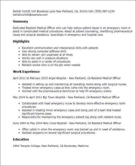 Er Pharmacist Cover Letter by Resident Officer Resume Template Best Design Tips Myperfectresume