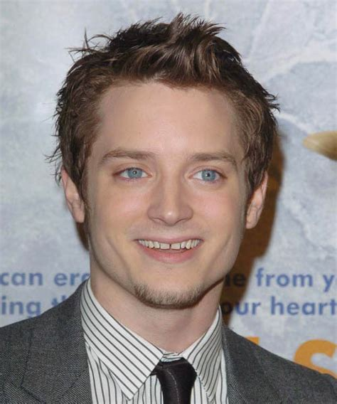 haircuts for high cheekbones on men elijah wood short straight casual hairstyle light