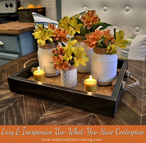 Easy Inexpensive Use What You Have Centerpiece Cheap And Easy Centerpieces
