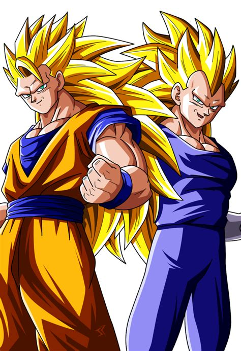 Goku Vegeta Ssj 3 goku ssj3 and vegeta ssj3 to colors by jonathanpiccini jp