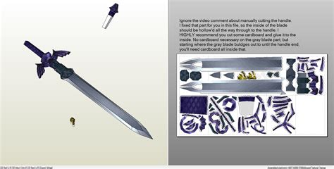 Papercraft Weapons Templates - papercraft pdo file template for link s sword