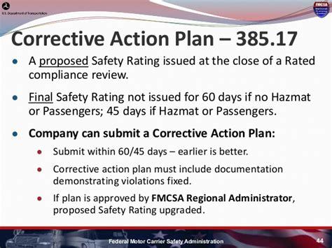 Hni U Fmcsa Update Fmcsa Corrective Plan Template