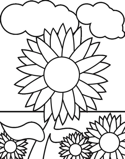 sunflower coloring pages coloring pages printable