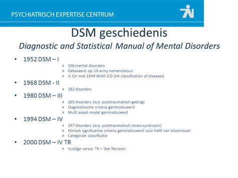 Dsm V Diagnostic And Statistical Manual Of Mental Disorders workshop psychische ongeschiktheid ppt
