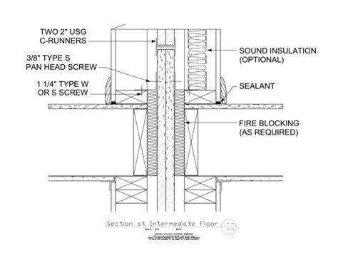 1 Hr Concrete Floor With Wood Framing - 09 21 16 33 164 area separation wall intermediate floor