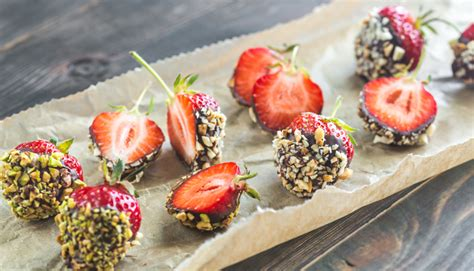 7 Ingredients And Directions Of Chocolate Dipped Fruit Kabobs Receipt by Chocolate Dipped Strawberries With Nuts Mindful By Sodexo