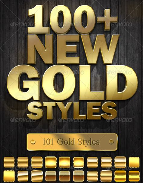 photoshop gold styles photoshop gold style collection psddude