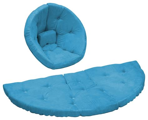 Futon Nest Chair by Nest Jr Convertible Futon Chair Bed Horizon Blue