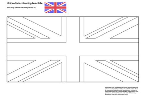 union jack colouring in template a mummy too