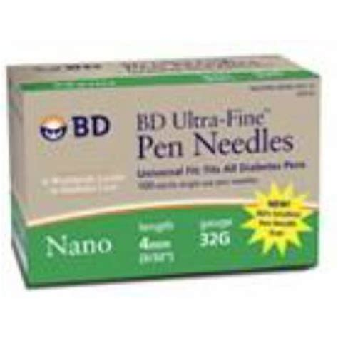 bd counting ultra nano pen needle 32g x 4 mm 100 count 320122