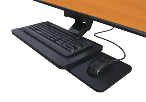 desk mounted keyboard and mouse tray afcindustries