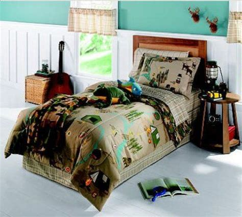 bed in a bag twin comforter sets cing nature themed bears deer twin comforter set 6