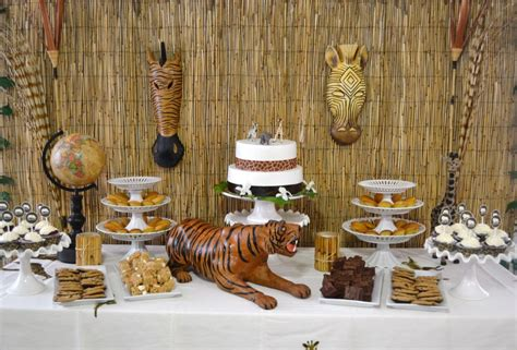 decorations for a themed safari baby shower ideas baby ideas