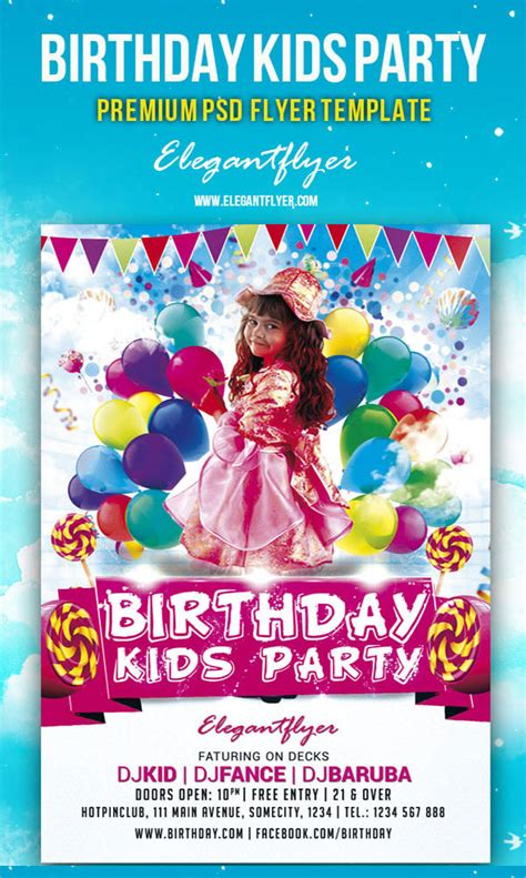 9 Amazing Sle Birthday Flyer Templates To Download Sle Templates Celebration Flyer Template Free