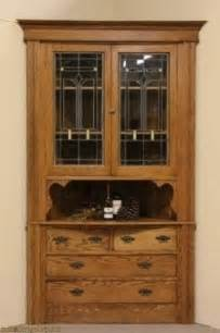 China Cabinet With Glass Doors Corner Oak China Cabinet Foter