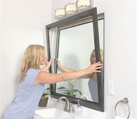 framing a bathroom mirror