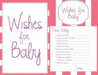 baby shower wish cards template 6 best images of printable wishes for baby template free
