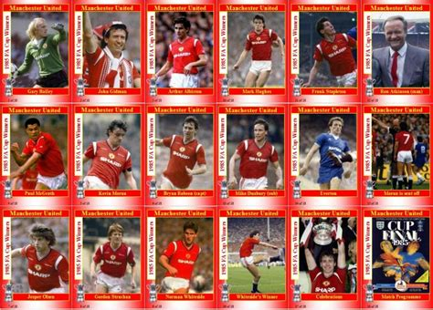 Dvd 1985 Fa Cup Manchester United V Everton Toko Sepakbola utd 1985 football cards and stickers quot when football was football quot