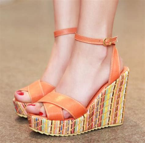 Where To Go Cheap Apples2apple Simple And Stylish by Enmayer Summer Sandals Platform High Heels Wedges Sandals