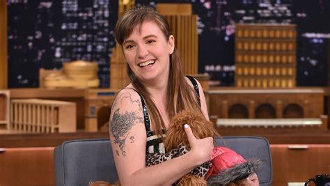 lena dunham new york interview lena dunham s dogs steal the show during fallon